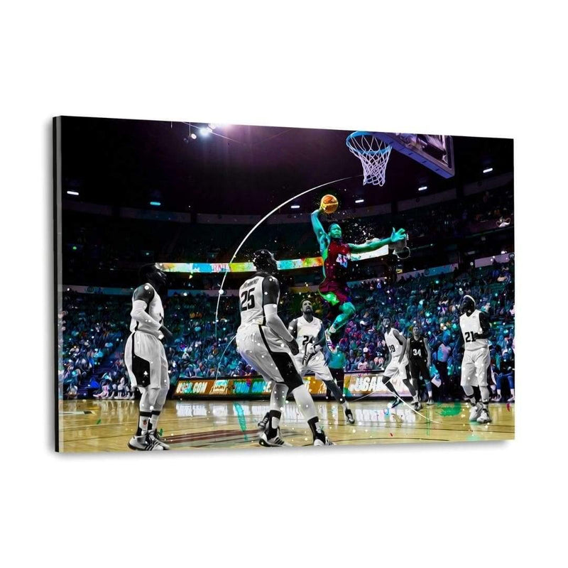 DUNK IT! - Plexiglasbild - Hustling Sharks