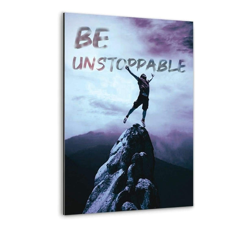 BE UNSTOPPABLE - Alu-Dibond Bild - Hustling Sharks