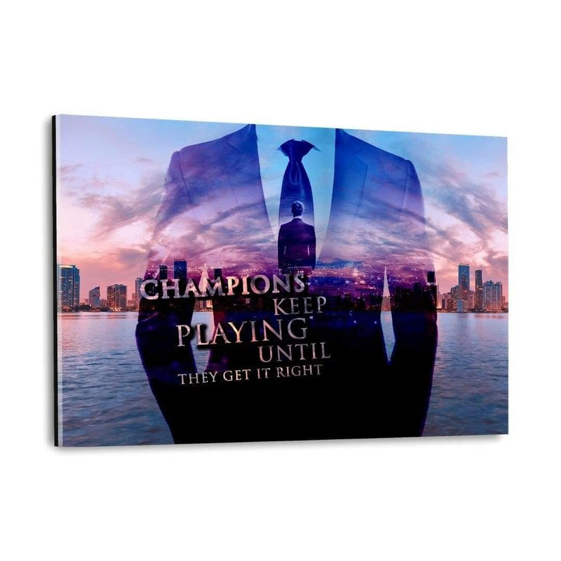 The Champion. - Plexiglasbild - Hustling Sharks