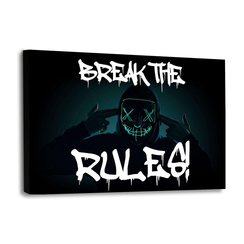BREAK THE RULES! - Leinwandbild - Hustling Sharks