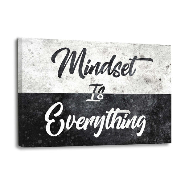 MINDSET IS EVERYTHING - Leinwandbild - Hustling Sharks