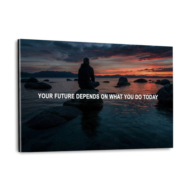 YOUR FUTURE - Plexiglasbild - Hustling Sharks