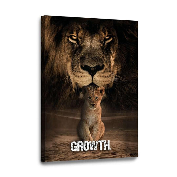 GROWTH. - Leinwandbild - Hustling Sharks
