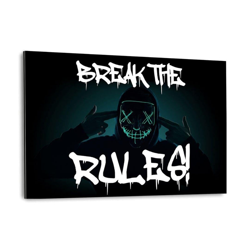 BREAK THE RULES! - Alu-Dibond Bild - Hustling Sharks