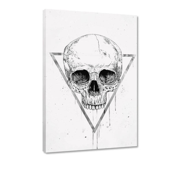 Skull In A Triangle #1 - Leinwandbild - Hustling Sharks
