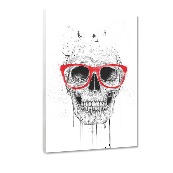 Skull With Red Glasses - Leinwandbild - Hustling Sharks