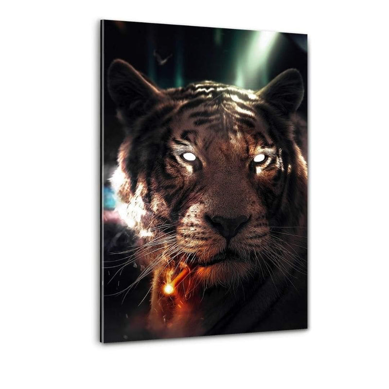 Smoking Tiger - Plexiglasbild - Hustling Sharks