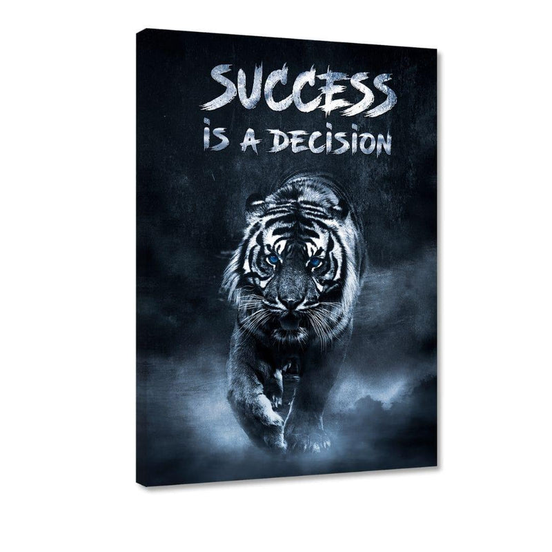 Success is a decision! - Leinwandbild - Hustling Sharks