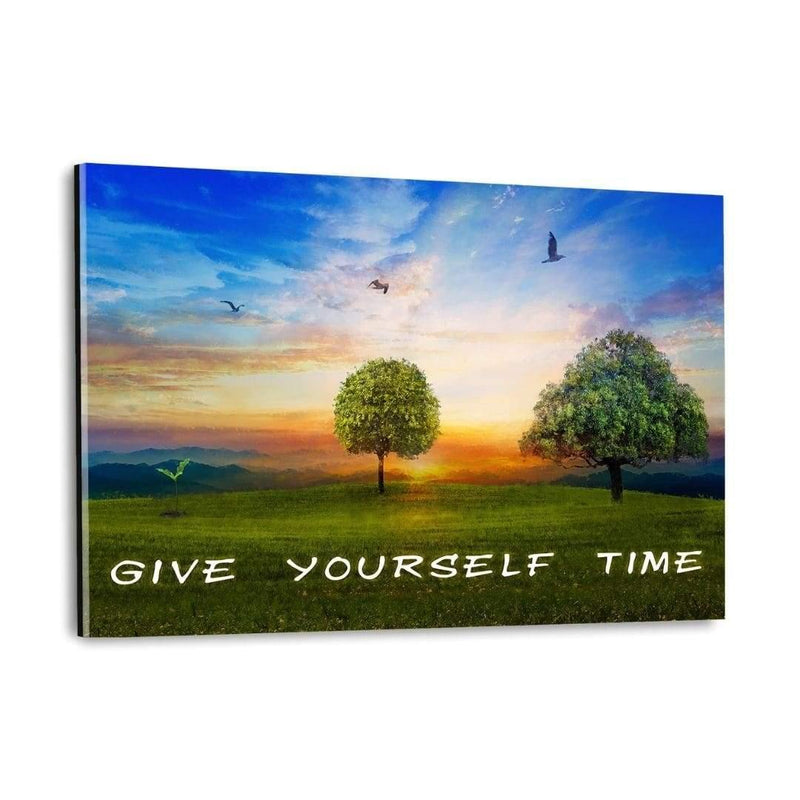 GIVE YOURSELF TIME! - Plexiglasbild - Hustling Sharks