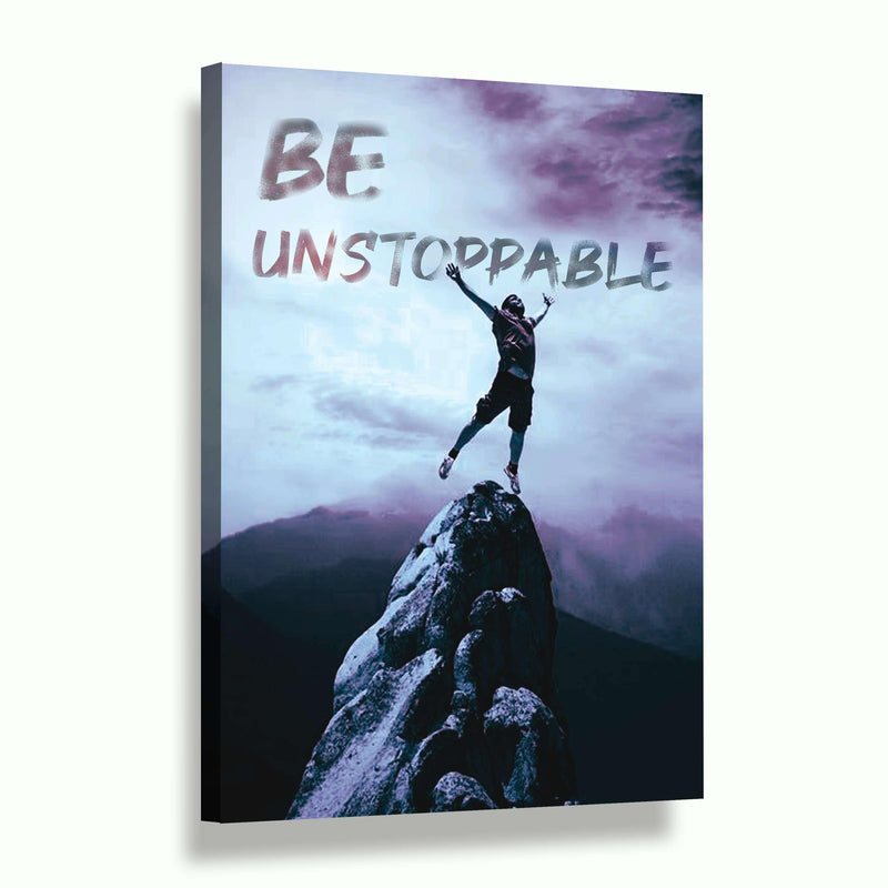 BE UNSTOPPABLE - Leinwandbild - Hustling Sharks