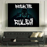 BREAK THE RULES! - Mockup mit Hintergrund 1- Hustling Sharks