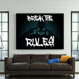 BREAK THE RULES! - Mockup mit Hintergrund 2 - Hustling Sharks