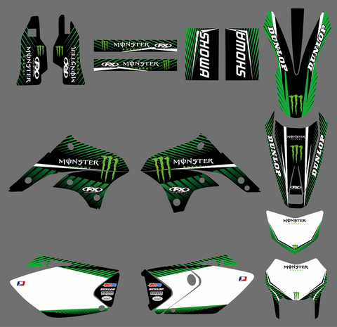 Kit Déco KAWASAKI KLX 450 2008-2018 MONSTER #2