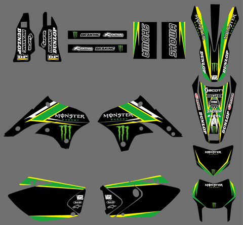 Kit Déco KAWASAKI KLX 450 2008-2018 MONSTER #3