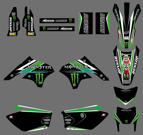 Kit Déco KAWASAKI KLX 450 2008-2018 MONSTER #4