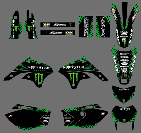 Kit Déco KAWASAKI KLX 450 2008-2018 MONSTER #5