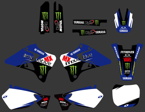 Kit déco YAMAHA YZ 125-250 1996-2001 MONSTER