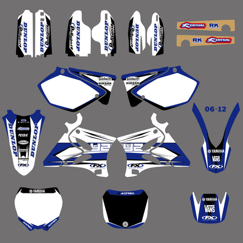 Kit déco YAMAHA YZ 125-250 2002-2012 WHITE BLUE