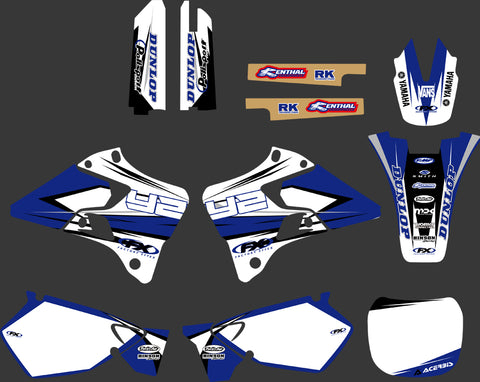 Kit déco YAMAHA YZ 125-250 1996-2001 FACTORY