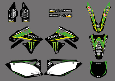 Kit Déco KAWASAKI KXF 250 2009-2012 MONSTER #1