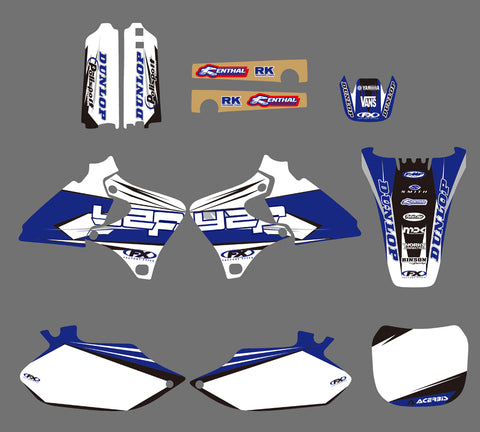 Kit Déco YAMAHA YZF 250 - 426 1998-2002 FACTORY WHITE