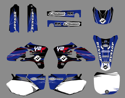 Kit Déco YAMAHA YZF 250-450 2003-2005 BLUE RED