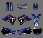 Kit déco YAMAHA YZ 125-250 1996-2001 FACTORY BLACK