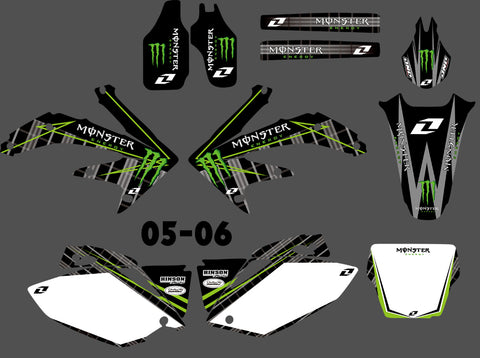 Kit Déco HONDA CRF 450 2005-2008 GREEN MONSTER