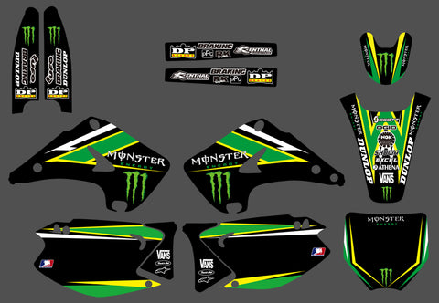 Kit Déco KAWASAKI KX 125-250 2003-2012 MONSTER #5