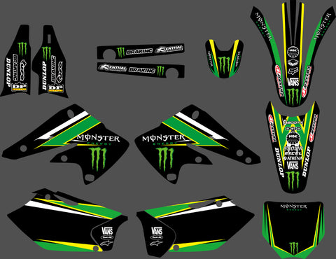 Kit Déco KAWASAKI KXF 250 2004-2005 MONSTER