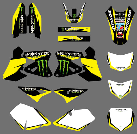 Kit Déco SUZUKI DRZ 400 YELLOW ROCKSTAR