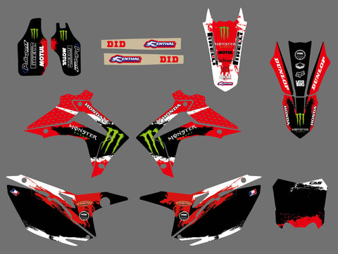 Kit déco HONDA CRF 250-450 2013-2016 MONSTER
