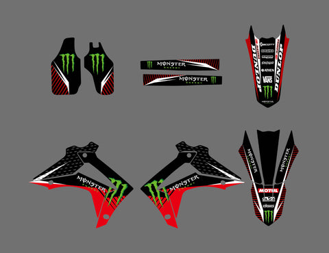Kit déco HONDA CRF 250-450 2013-2016 MONSTER #3