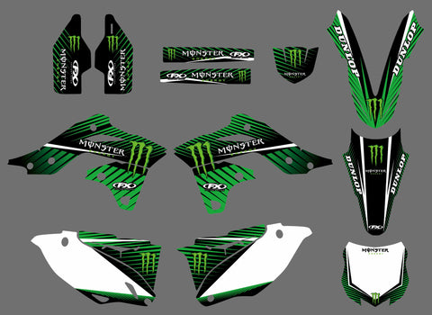Kit Déco KAWASAKI KXF 250 2013-2016 MONSTER #2