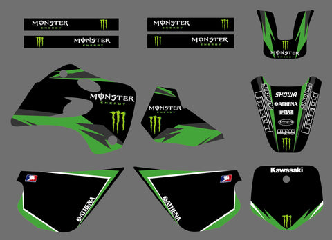 Kit Déco KAWASAKI KX 80 1994-1997 MONSTER