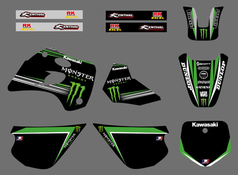 Kit Déco KAWASAKI KX 80 1994-1997 MONSTER #2
