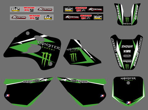 Kit Déco KAWASAKI KX 80 1994-1997 MONSTER #3