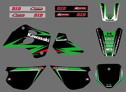 Kit Déco KAWASAKI KX 80 1994-1997 GREEN