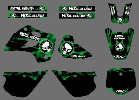 Kit Déco KAWASAKI KX 80 1994-1997 METAL MULISHA
