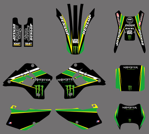Kit déco KAWASAKI KDX 200-220 1995-2005 MONSTER #3