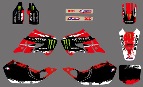 Kit Déco HONDA CR 125-250 1997-1999 MONSTER RED