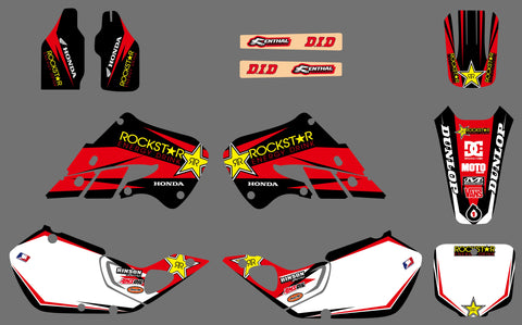 Kit Déco HONDA CR 125-250 1997-1999 ROCKSTAR RED