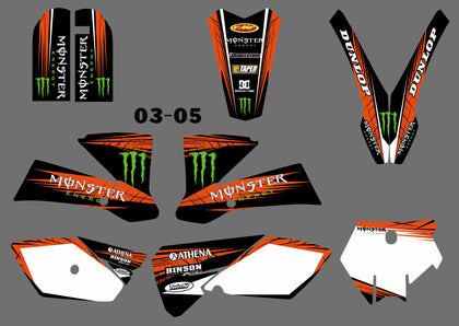 Kit Déco KTM SX 85 2003-2005 MONSTER