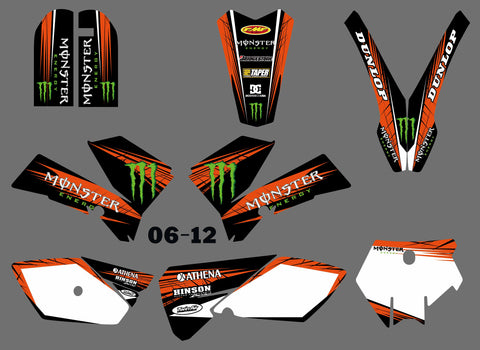 Kit déco KTM SX 85 2006-2012 MONSTER