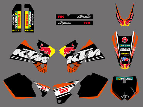 Kit Déco KTM SX 1998-2000 RED BULL #3