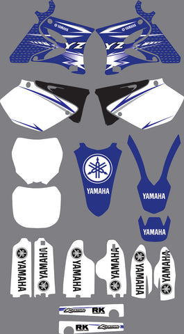 Kit déco YAMAHA YZ 125-250 2002-2012 Origine Simple