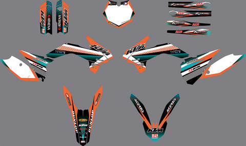 Kit Déco KTM SX 85 2013-2017 ORANGE BLUE