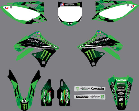 Kit Déco KAWASAKI KXF 250 2009-2012 MONSTER #4