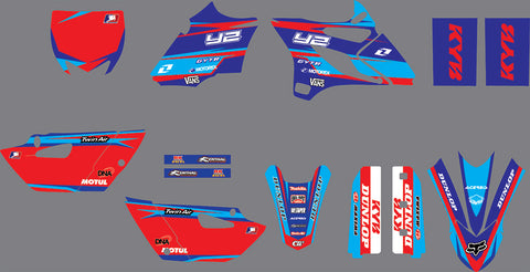 Kit déco YAMAHA YZ 85 2015-2020 RED BLUE