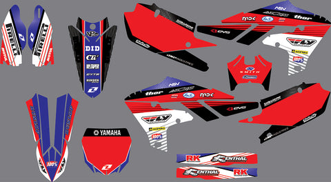 Kit Déco YAMAHA YZF 250 2019 RED BLUE